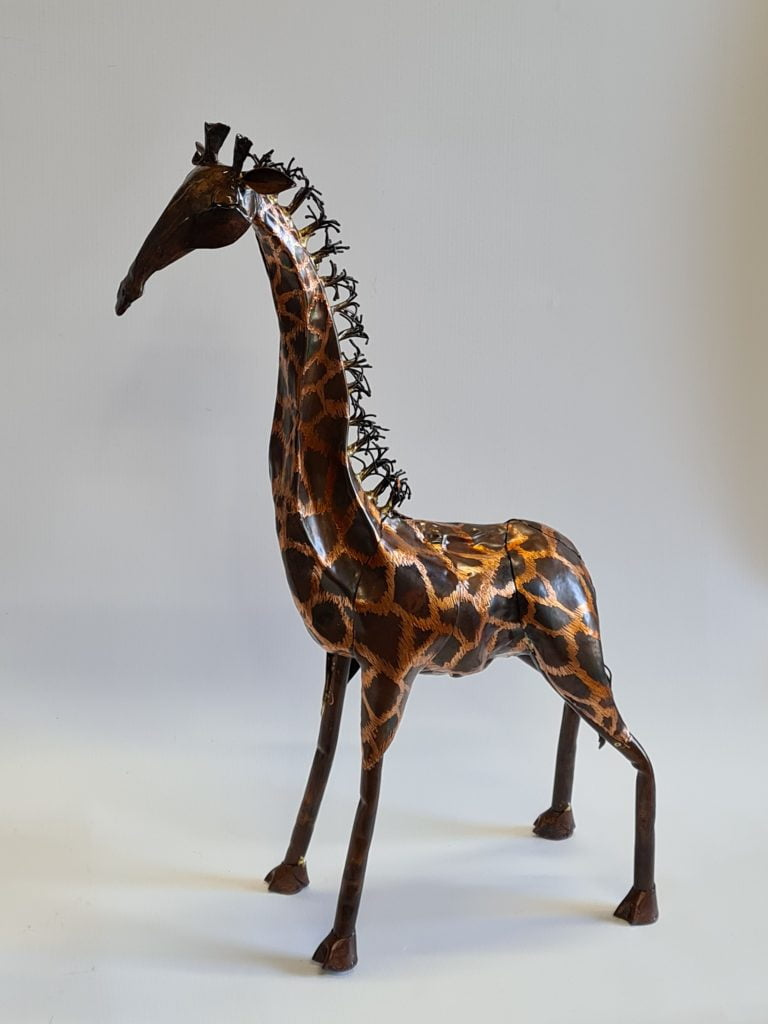 Emily Stone Copper Giraffe Sculpture small 2
