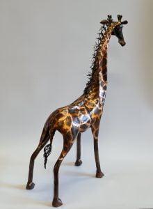 Emily Stone Copper Giraffe Sculpture small 3
