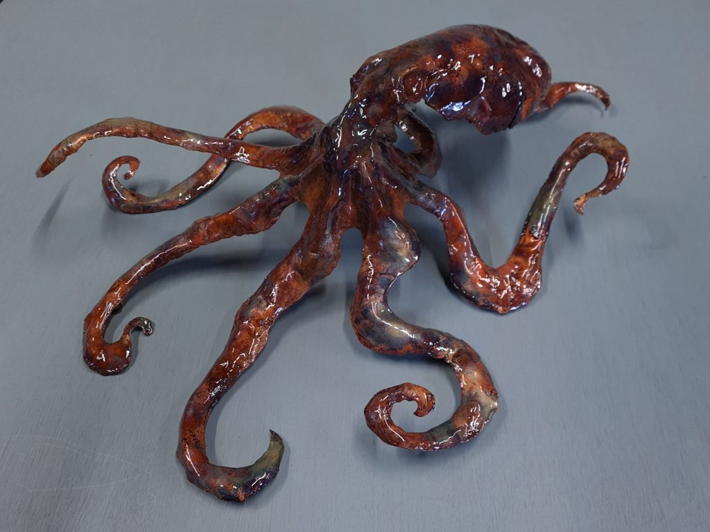 Emily Stone Copper Octopus Sculpture 1