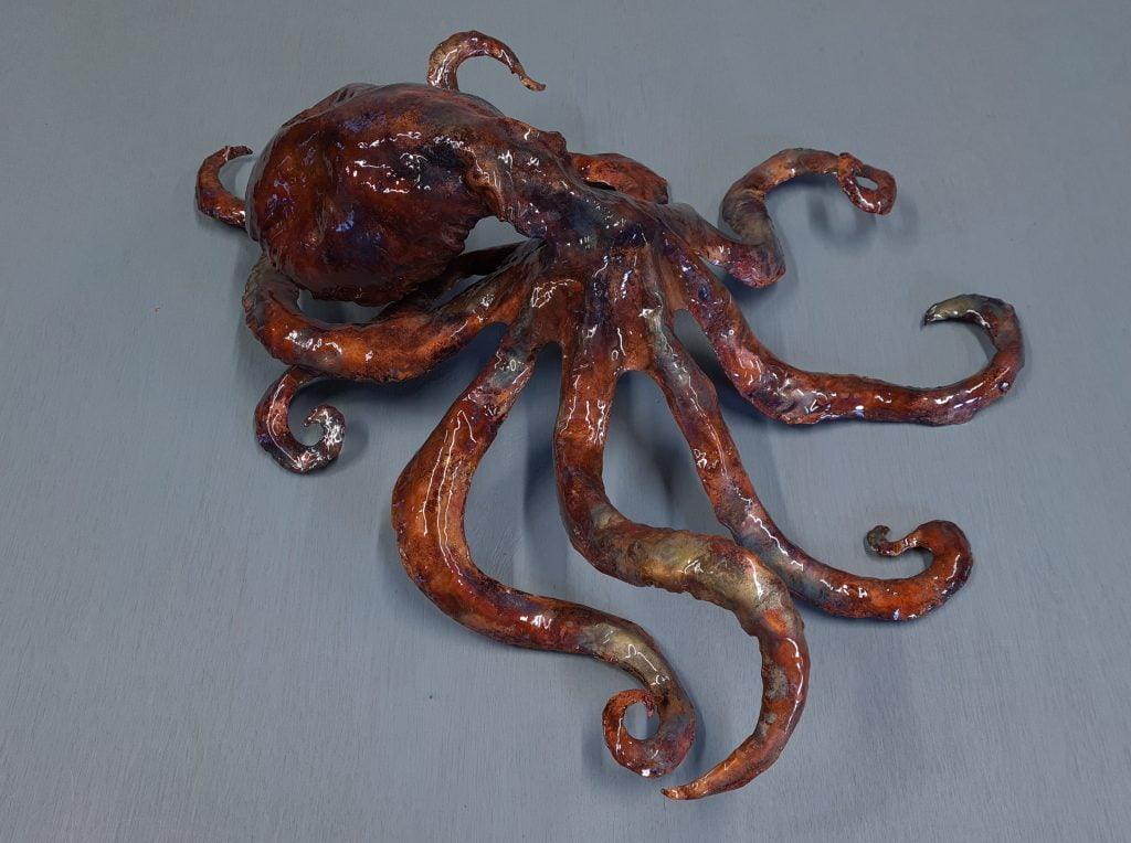 Emily Stone Copper Octopus Sculpture 2