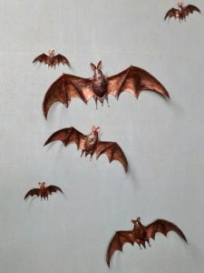Emily Stone Copper Bat Sculpture group