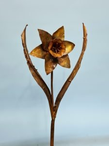 Emily Stone Copper Flower Daffodil Sculpture small