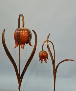 Emily Stone Copper Flower Fritillary Sculpture sizes