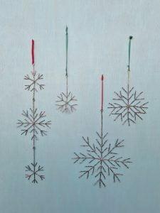 Emily Stone Copper Christmas Snowflake Sculpture sizes